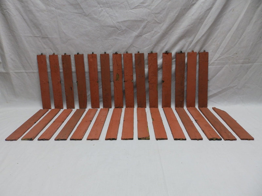 Vintage Shutter Slats Louvers Signs Arts Crafts Projects Repurpose 29 ct 153-18P