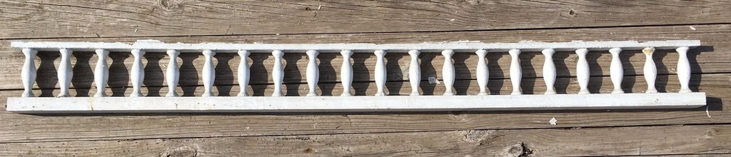 "Antique 98"" Wood Porch Span Spindles White Old Victorian Gingerbread 241-17E"