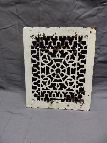 Antique Cast Iron Floor Register Heat Grate 12x10 Old Vtg 326-18P
