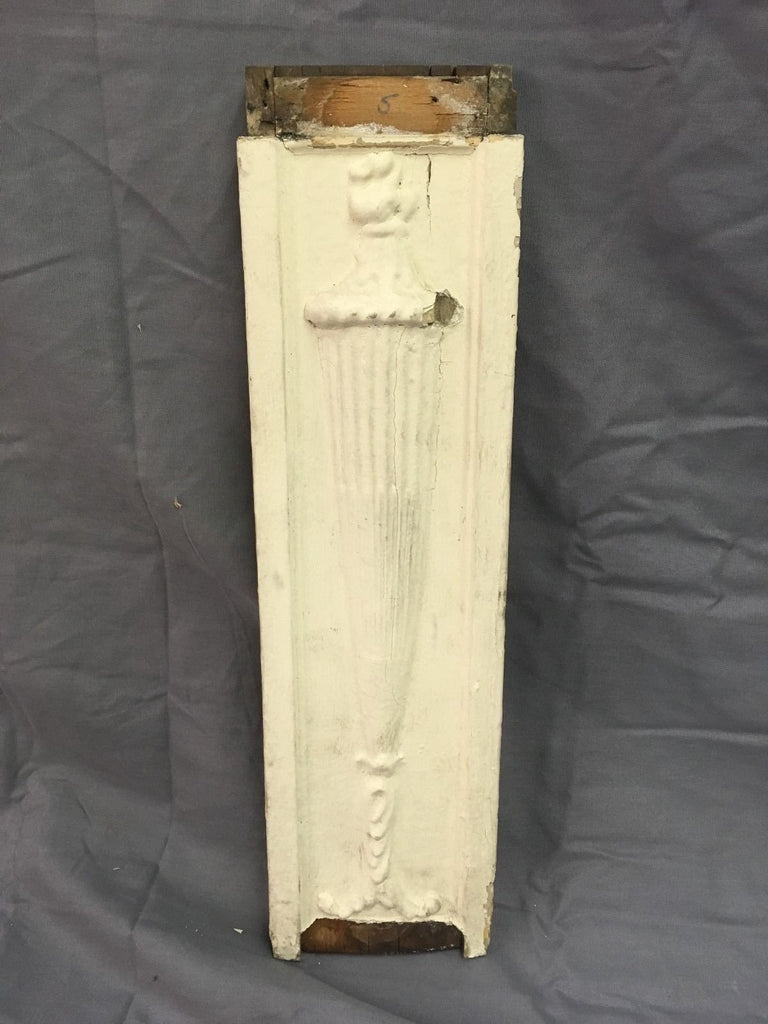 Antique Torch Urn Gingerbread Applique Shabby Architectural Salvage Chic 20-18E