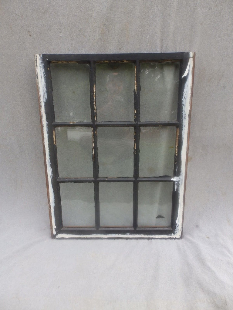 Antique 9 Lite Window Sash Cabin Cottage Bungalow Vintage 33x25     298-17P