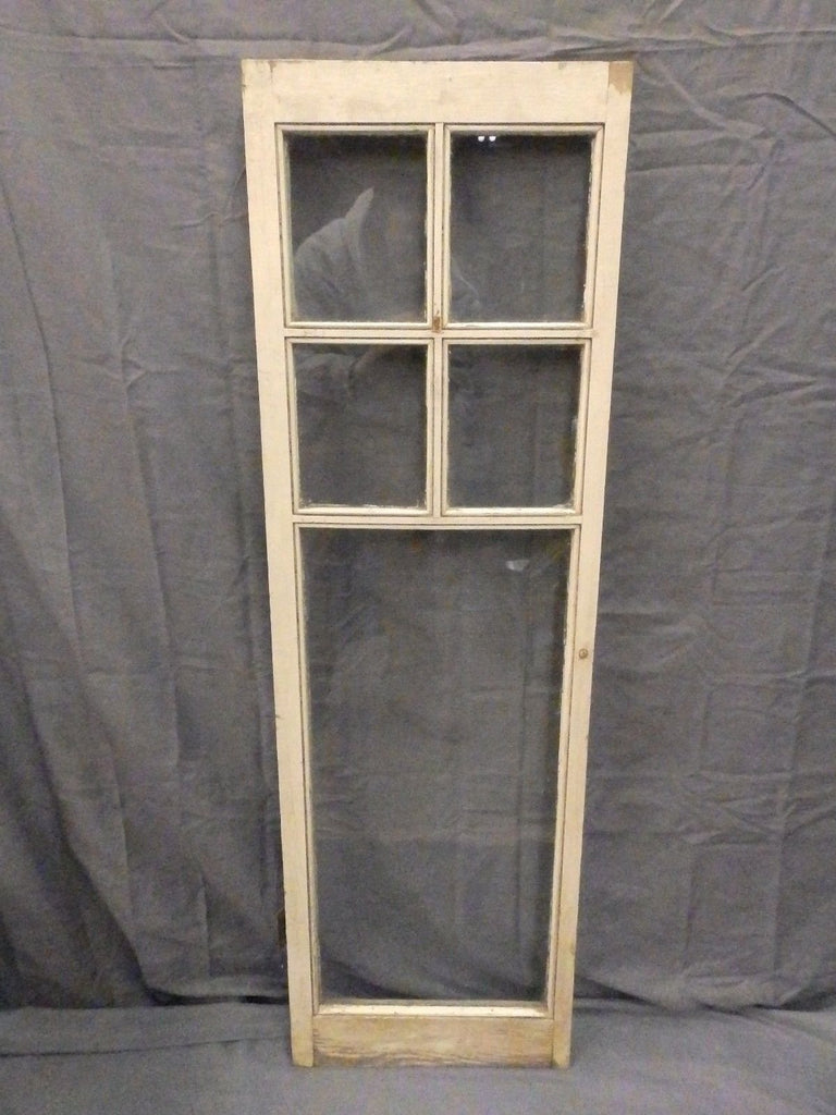 Antique 5-Lite Small Casement Window Cabinet Cupboard Door Vintage 42x13 598-17P