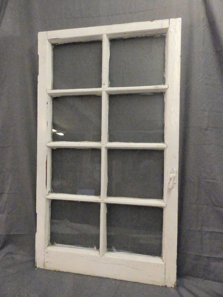 Antique 8 Lite Casement French Door Window Cabinet Chic Vtg Shabby 42x24 555-17P