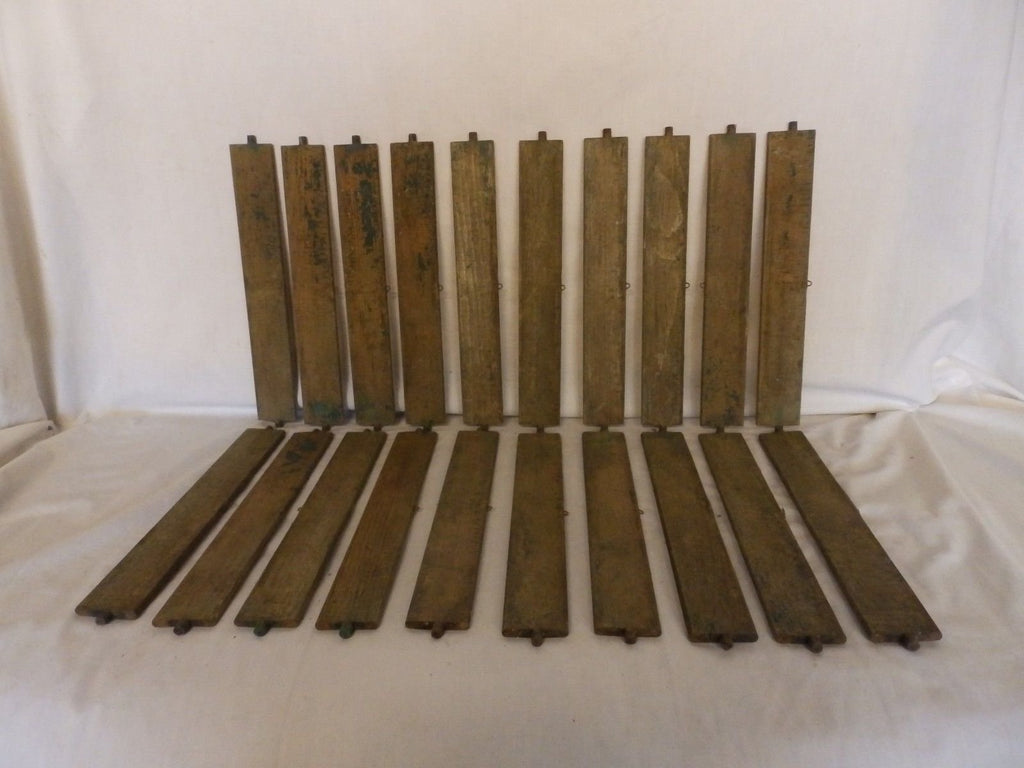 Vintage Shutter Slats Louvers Signs Arts Crafts Projects Repurpose 20 ct 178-18P