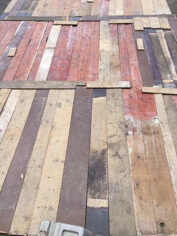 Genuine Antique Pine Wide Plank Flooring 800 sq ft Old Vtg Circa 1840s 401-17E