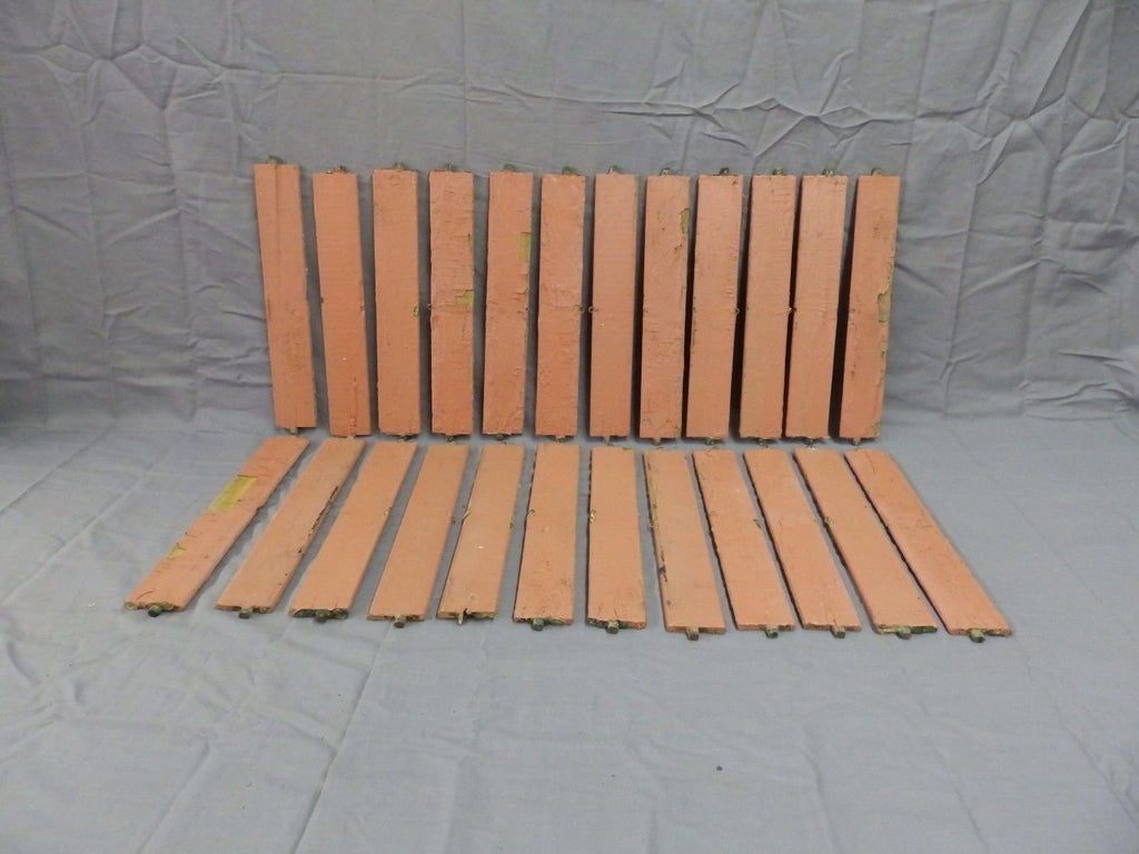 Vintage Shutter Slats Louvers Signs Arts Crafts Projects Repurpose 24 ct 198-18P