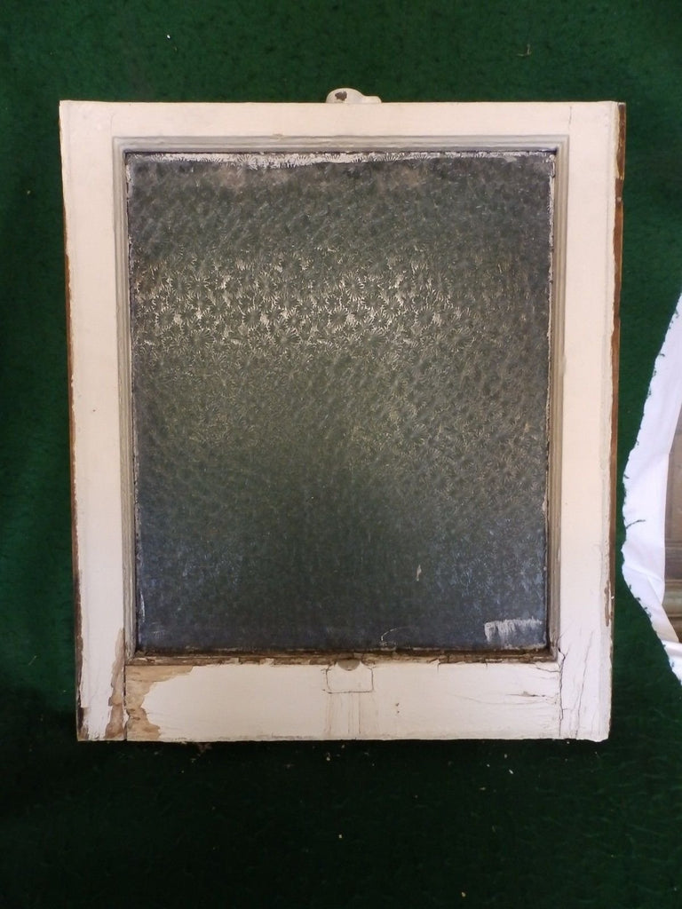 Antique Window Sash Florentine Privacy Glass 23 X 20 Old House Bathroom 4532-15