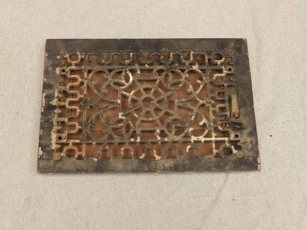 Antique Cast Iron Heat Grate Register Vent Old Vintage Hardware 634-16