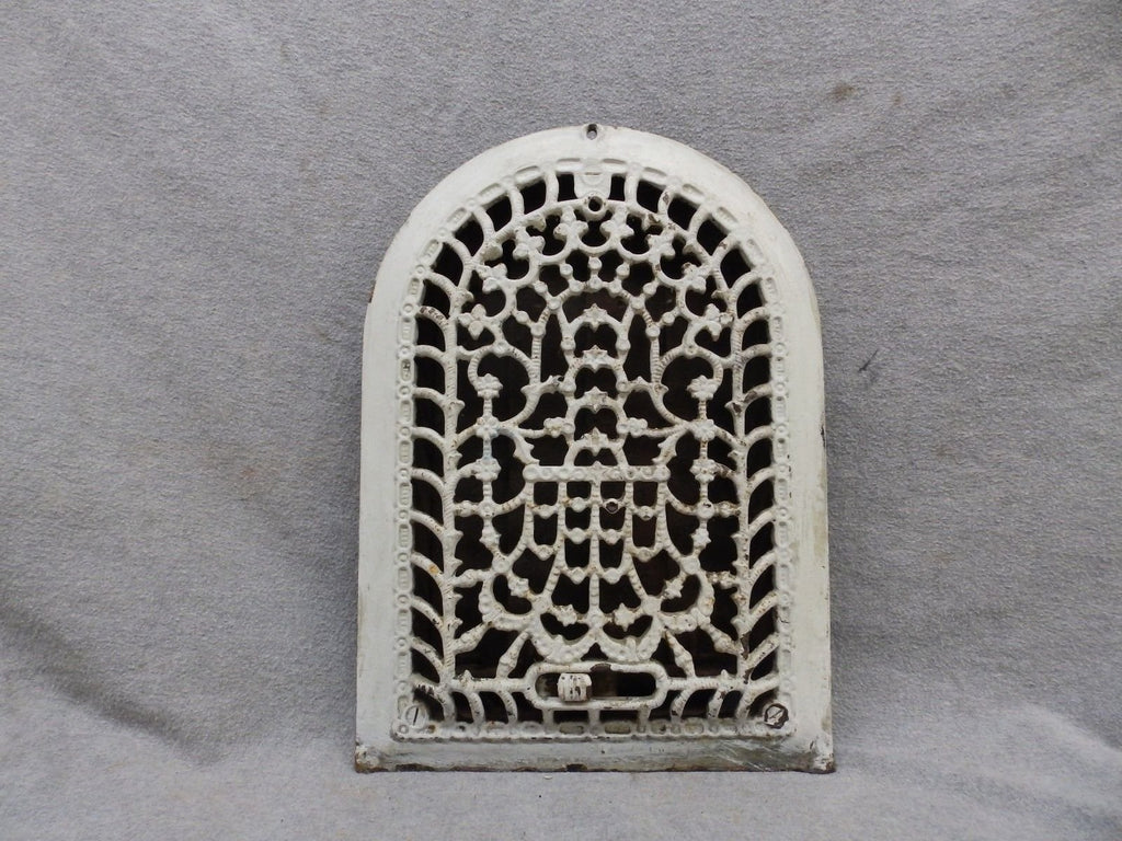 Antique Cast Iron Arch Top Dome Heat Grate Wall Register Vintage Goth12x7 51-17P