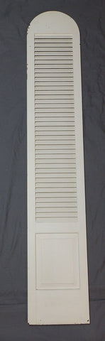 Tall Vtg Arch Top Dome Louvered Shutter 90x16 Shabby Pantry Door Chic 592-18P