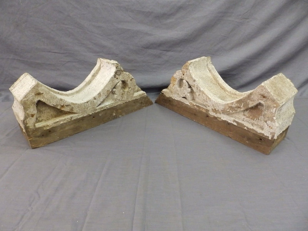 Pr Antique Angled Corbels Roof Bracket Victorian Shabby Cottage Vtg Chic 497-17P