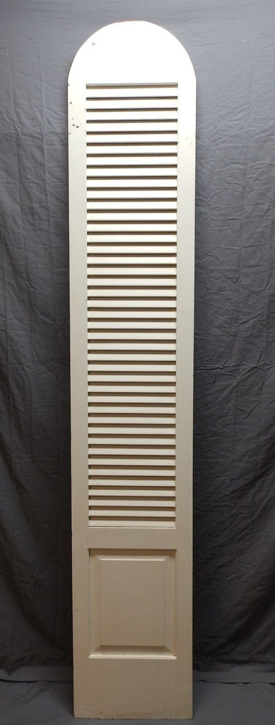 Tall Vtg Arch Top Dome Louvered Shutter 90x16 Shabby Pantry Door Chic 590-18P