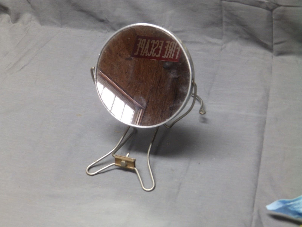 Antique Chrome Round Two Sided Swiveling Shaving Makeup Magnifying Mirror 80-17E