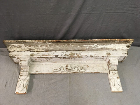 Antique Pediment Header Corbel Mantel Shelf Vtg Shabby Victorian Chic 777-17E