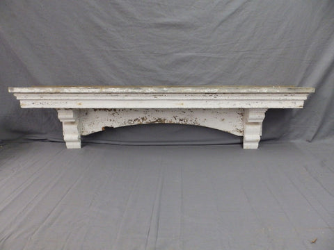 Lrg Antique Window Pediment Header Corbel Shelf Vtg Shabby Victorian Old 489-17P