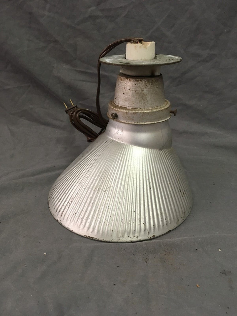 Vintage Industrial Ceiling Light Silver Mercury Glass Shade Steampunk 134-18E