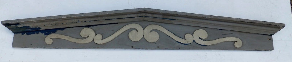 Large Antique Window Pediment Header Old Vintage Shabby Victorian Chic 361-16