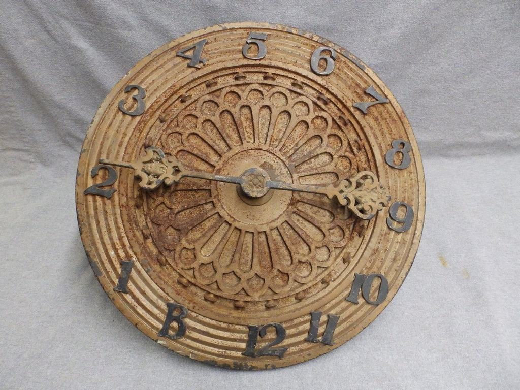"19"" Antique Cast Iron Elevator Floor Indicator Dial Brass Numbers Arrow 535-16"