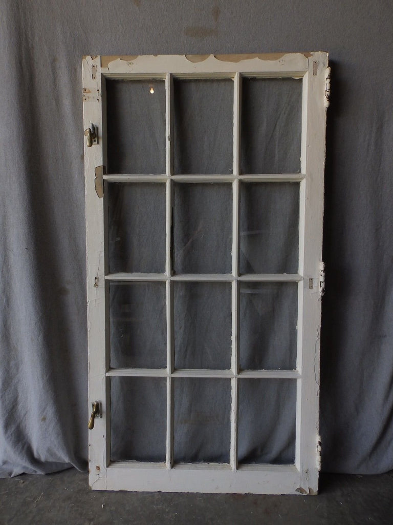 Antique 12 Lite Vtg Casement Bookcase Cupboard Window Chic Door  53X29 152-17P