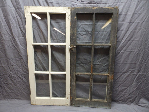 Antique Pr Casement Windows 39x17 Bookcase Cupboard Cabinet 6 Lite Doors 568-18P