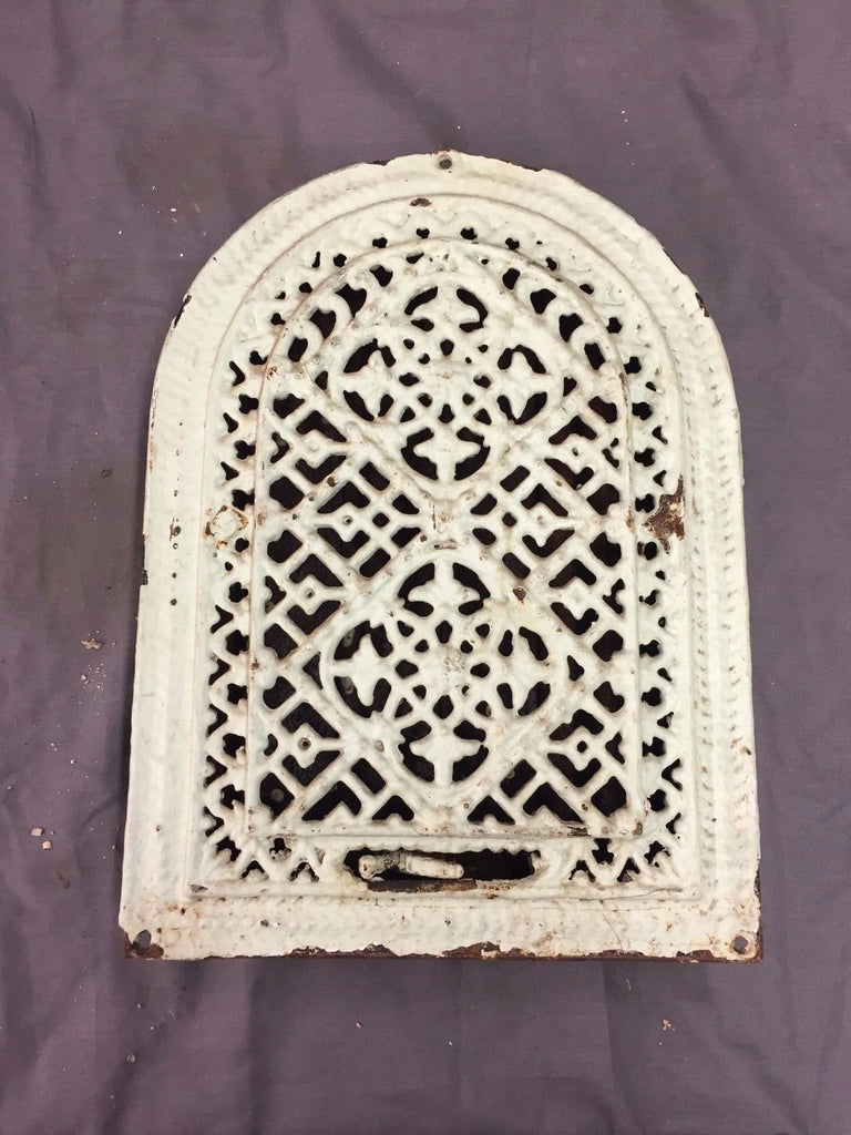 Antique Cast Iron Arch Top Heat Grate Wall Register Decorative Vtg 8X12 34-17B
