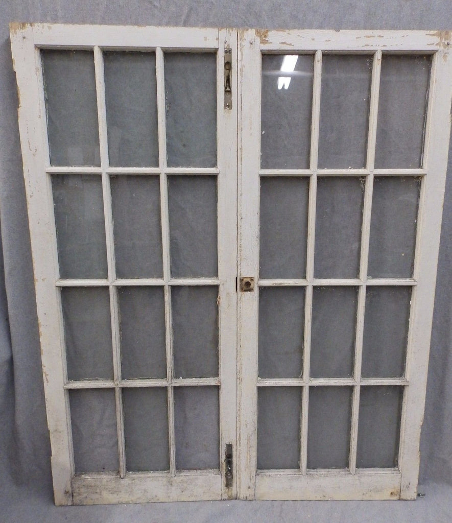 Pr Antique Casement Windows Cabinet Door Kitchen Shabby Cottage Chic 1126-16