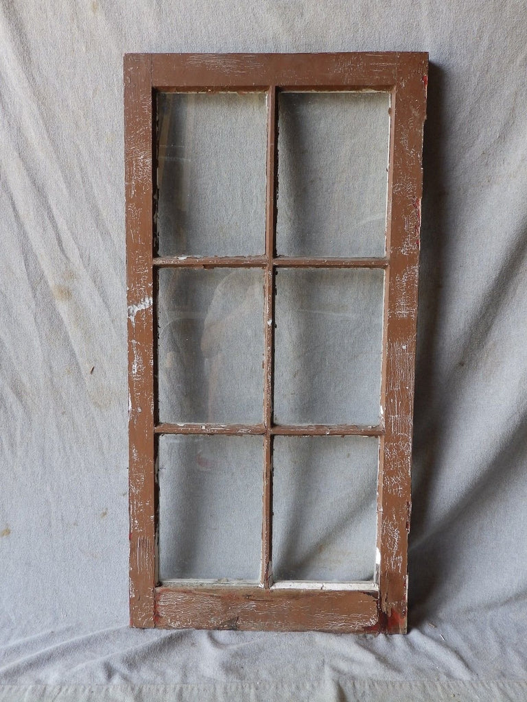 Antique Vintage 6 Lite Casement Window Cabinet Door Kitchen 35x18 Cabin 265-17P