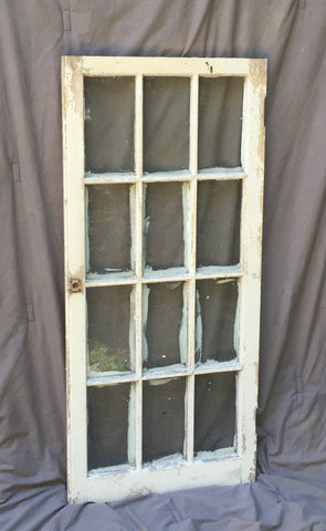 Antique 12 Lite Casement Kitchen Cabinet Window Pantry Shabby Old Chic 1118-16