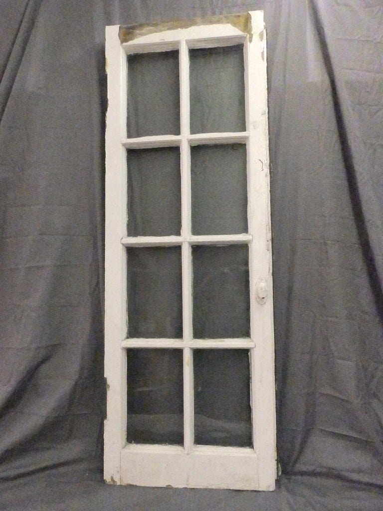 Antique 8 Lite Casement French Door Window Cabinet Chic Vtg Shabby 64x19 557-17P