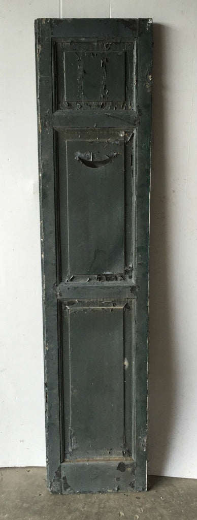 Antique Crescent Moon Shutter Cupboard Door Shabby Cottage Chic Vintage 1103-16