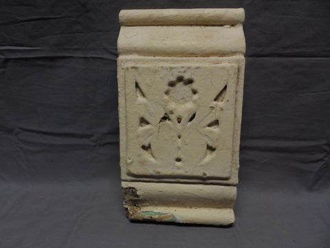 One Architectural Salvaged Gingerbread Plinth Block Shabby Floral Chic 496-18P