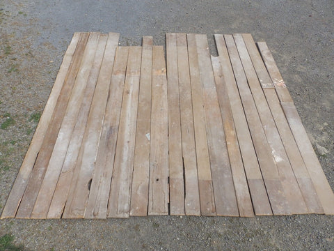 Genuine Antique Pine Wide Plank Tongue & Groove Flooring 180 sq ft Old 1702-16
