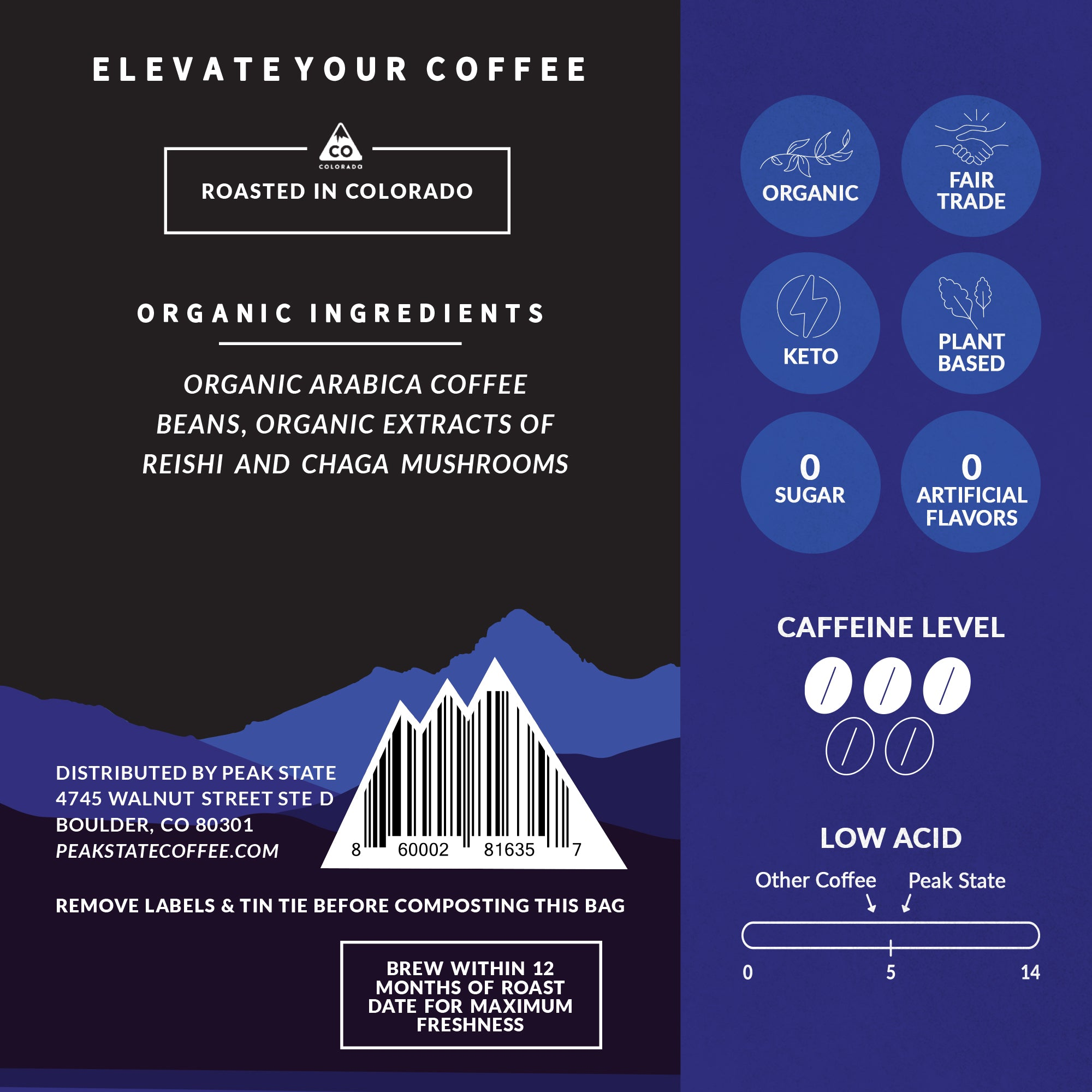UPLIFT Dark Roast (+Stress Support)