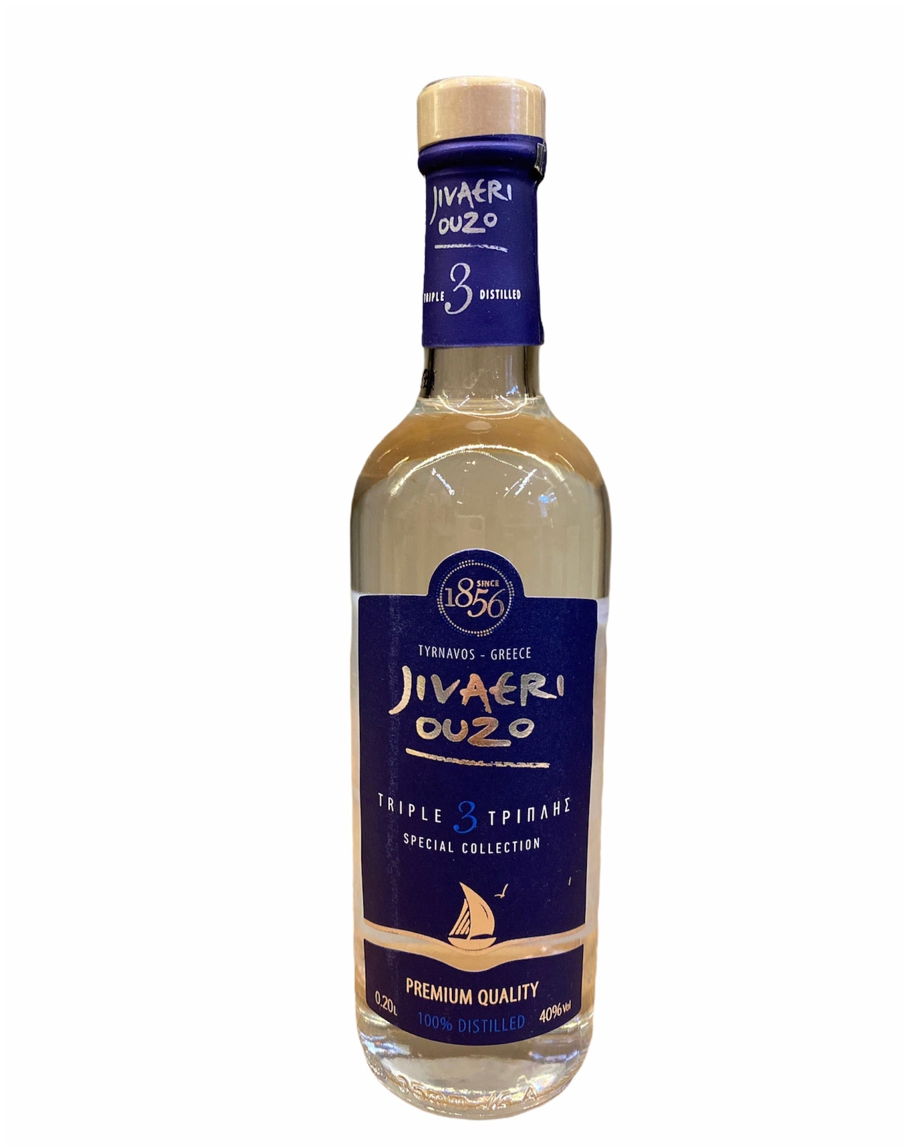 Jivaeri Ouzo Tirnavos 3 Fache Destillation 200ml 40% Vol