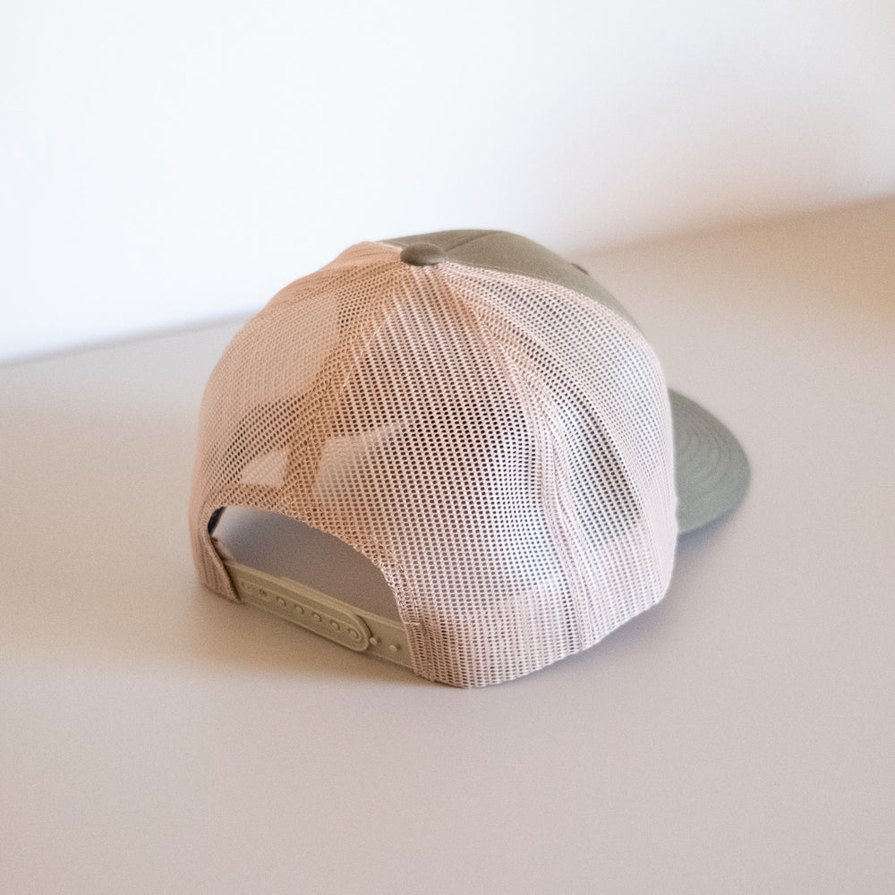 Patch Trucker Hat – Olive/Tan