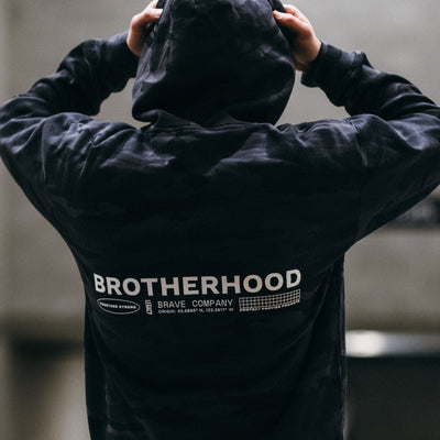 Brotherhood Black Camo Hooded Fleece