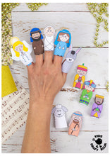 Load image into Gallery viewer, Nativity Finger Puppets