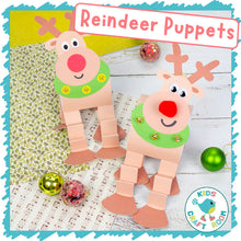 Load image into Gallery viewer, Reindeer Puppets