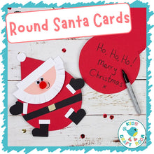Load image into Gallery viewer, Round Santa Cards