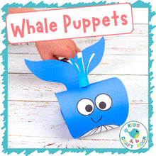 Load image into Gallery viewer, Whale Puppets