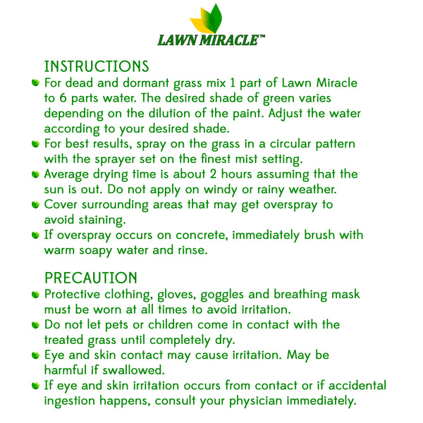 Lawn Miracle™ 1 Gallon Concentrated Grass Paint