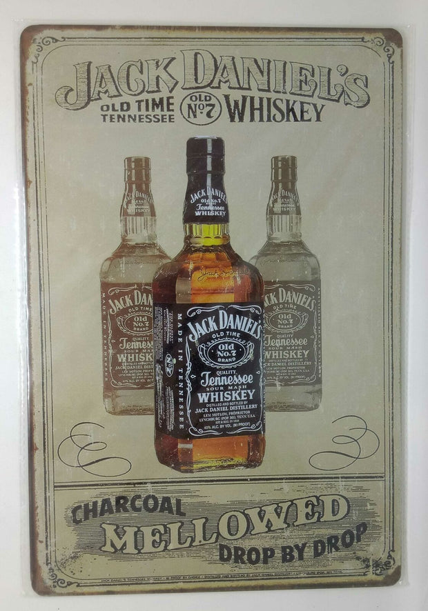 Nostalgie Retro Blechschild Whiskey Jack Daniels old time tennessee 30x20 50059