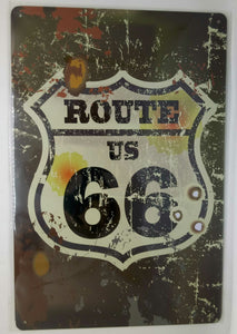 Nostalgie Retro Blechschild US Route 66 30x20 50134