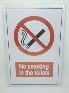 "Nostalgie Retro Blechschild ""No smoking in the toilets"" 30x20 50247"