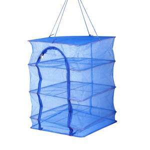 Foldable four-layer square fishnet