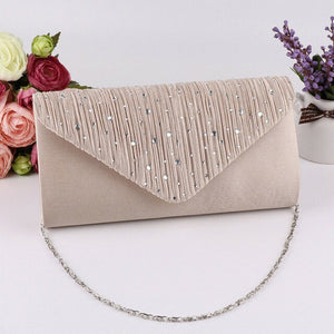 2019 The Newest Fashion Bags Suit More Clothing Women's Diamonte Envelope Clutch Shoulder Bag Purse Wedding Bridal Prom HandBags