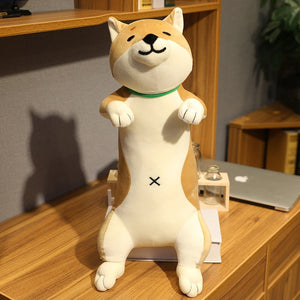 Plush Toys Animal Cat dog Cute Creative Long Soft Toys Office Lunch Break Nap Sleeping Pillow Cushion Stuffed Gift Doll for Kids