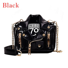 Load image into Gallery viewer, Fashion Chain Motorcycle HandBags Women Rivet Clothing Jacket Shoulder Messenger Bag Women PU Leather Crossbody