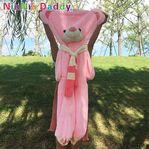 Niuniu Daddy 120cm to 180cm Giant  Scarf Teddy Bear big Skins plush Bear Toys Dolls Girl Friend Valentine Gift