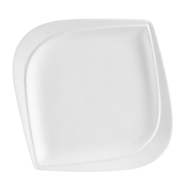 Aspen Tree Bone White Square Leaf Shape Bread Plate(ASP-8) (36/pcs)
